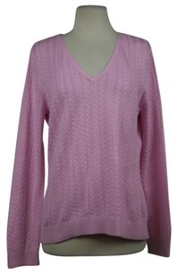 Talbots Womens V Neck Cotton Long Sleeve Casual Shirt Sweater