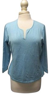 Talbots Silk Long Sleeves V Neck Solid Casual Sma8970 Sweater