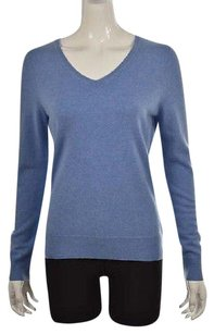 Talbots Womens V Neck Long Sleeve Speckled Shirt Causal Sweater