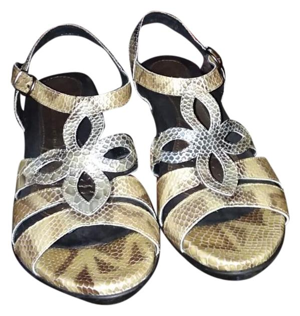 Tan & White Crafted In Portugal Leather Sandals US Size EU 40 (Approx. US Sandals 10) Regular (M, B) 229e07