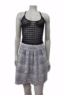 Tart Dido Pleated Abstract Reptile Print Skirt Gray white