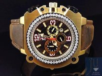 Techno Com by KC Mens Techno Com Kc Jojo Jojino Gold Case Weg Mm Vs Diamond Watch Ct
