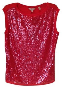 Ted Baker Sequin T Shirt red sequins