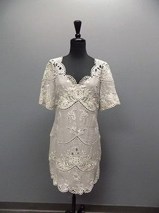 Temperley London short dress Off White And Gray on Tradesy