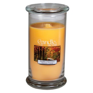 The Candle Factory Large 15-ounce Jar Crackling Candle Autumn Leaves