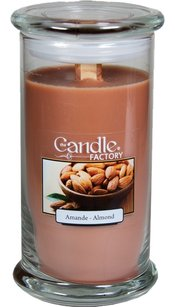 The Candle Factory The Candle Factory Large 15-Ounce Jar Crackling Candle, Almond