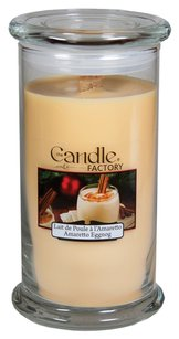 The Candle Factory The Candle Factory Large 15-Ounce Jar Crackling Candle, Amaretto Eggnog