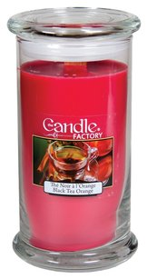 The Candle Factory The Candle Factory Large 15-Ounce Jar Crackling Candle, Black Tea Orange