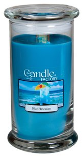 The Candle Factory The Candle Factory Large 15-Ounce Jar Crackling Candle, Blue Hawaiian
