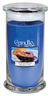 The Candle Factory The Candle Factory Large 15-Ounce Jar Crackling Candle, Blueberry Pie