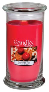 The Candle Factory The Candle Factory Large 15-Ounce Jar Crackling Candle, Candied Apple