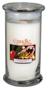 The Candle Factory The Candle Factory Large 15-Ounce Jar Crackling Candle, Candy Cane