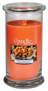The Candle Factory The Candle Factory Large 15-Ounce Jar Crackling Candle, Caramel Popcorn