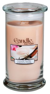 The Candle Factory The Candle Factory Large 15-ounce Jar Crackling Candle, Cinnamon Vanilla