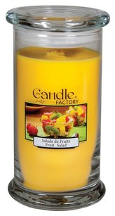 The Candle Factory The Candle Factory Large 15-ounce Jar Crackling Candle, Fruit Salad