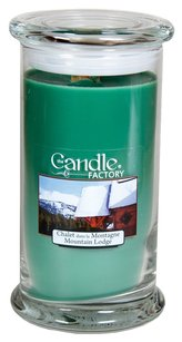 The Candle Factory The Candle Factory Large 15-ounce Jar Crackling Candle, Mountain Lodge