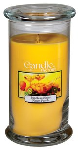 The Candle Factory The Candle Factory Large 15-ounce Jar Crackling Candle, Rhum Punch