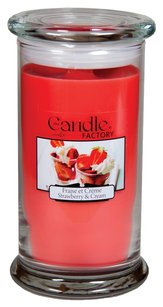 The Candle Factory The Candle Factory Large 15-ounce Jar Crackling Candle, Strawberry and Cream