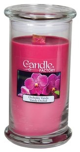 The Candle Factory The Candle Factory Large 15-ounce Jar Crackling Candle, Vanda Orchid