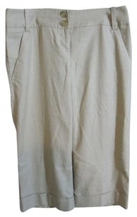 The Limited Classidy Collection Cropped Chino Mix And Match Linen Polyester Rayon Viscose Spandex Straight Pants Khaki