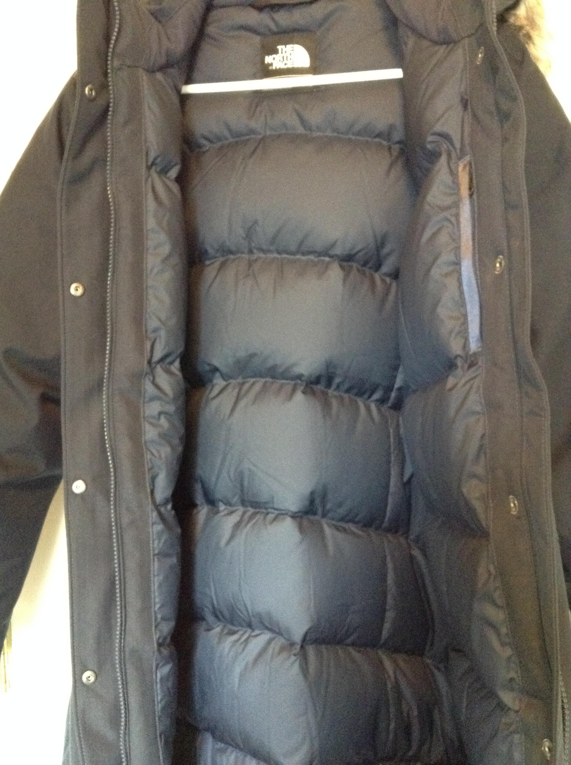d0ef90f15a ... ebay the north face blue xxl navy arctic down parka faux fur hood puffy  ski coat ...