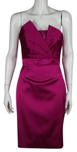 Theia Cocktail Womens Sheath Strapless Formal Dress