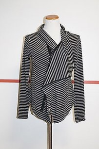 Theme Cotton Striped Long Sleeve Button Front 17975 Sweater