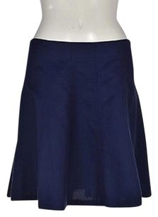 Theory Womens Navy A Line Above Knee Casual Skirt Blue
