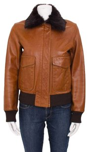 Theory Camel Leather Brown Jacket