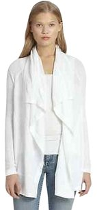 Theory Radswell Calming Draped Knit Linen Cotton Open Front Cardigan L8 Sweater