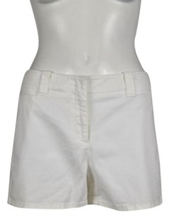 Theory Womens Casual Solid Shorts White