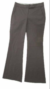 Theory Flare Career Slacks Gray Mid Rise Flat Front Pants