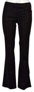 Theory Womens Striped Dress 0 Wtw Wool Blend Flared Trousers Pants