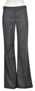 Theory Womens Gray Dress Wool Pinstriped Career Trousers Wtw Pants