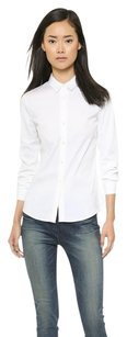 Theory Larissa 2 Buttonup Work Top White