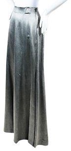 Theory Theyskens Maxi Skirt Metallic Gray