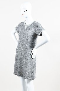 Theory short dress Gray Cotton Wool Knit Short Sleeve Sweater on Tradesy