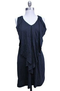Theory short dress navy Black Ruffle Overlay on Tradesy
