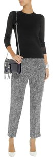 Theory Silk Casual Monochrome Relaxed Pants Black, White