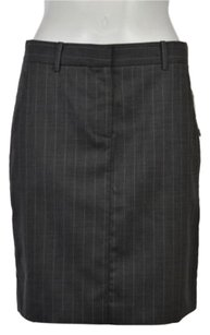 Theory Womens Striped Skirt Gray