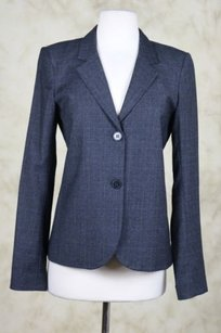 Theory Theory Womens Charcoal Blazer Wool Long Sleeve Wtw Basic Jacket