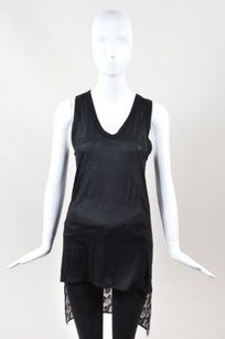 Thomas Wylde Silk Sheer Top Black