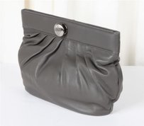 Thomas Wylde Leather Gray Clutch