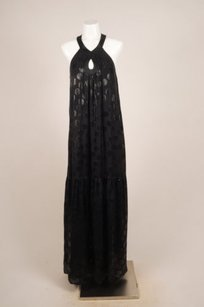 Black Maxi Dress by Tibi Silk Metallic