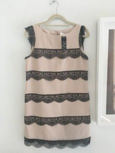 Tibi short dress Pink & Black Lace Trimmed Cocktail on Tradesy
