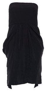 Tibi Strapless Gathered Pleated Night Out Dress