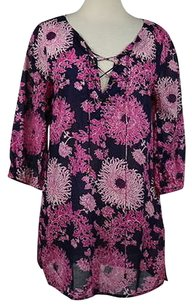 Tibi Womens Floral Tunic