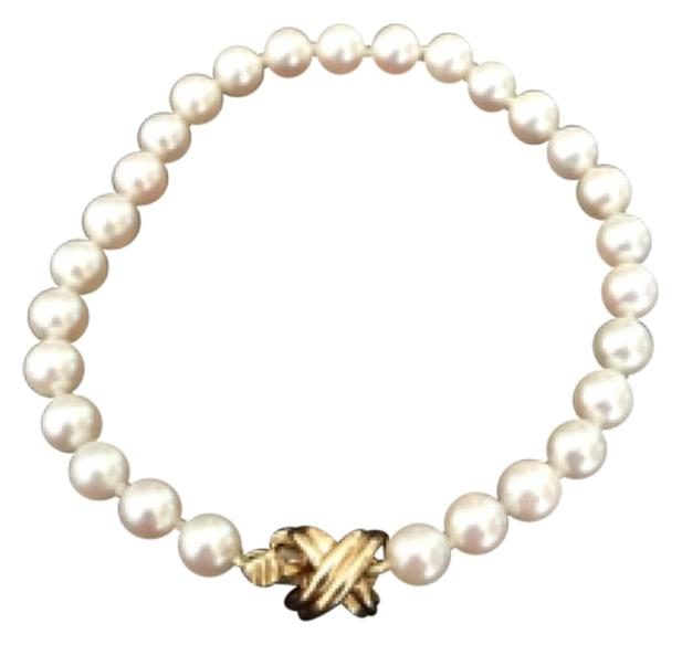 Tiffany & Co. Akoya Pearl X - 750k Gold Bracelet