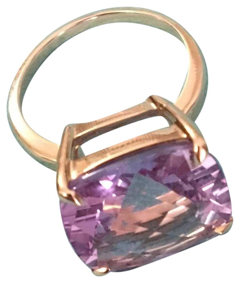 Tiffany Co Amethyst and 18k Rose Gold Sparkler Ring Tradesy