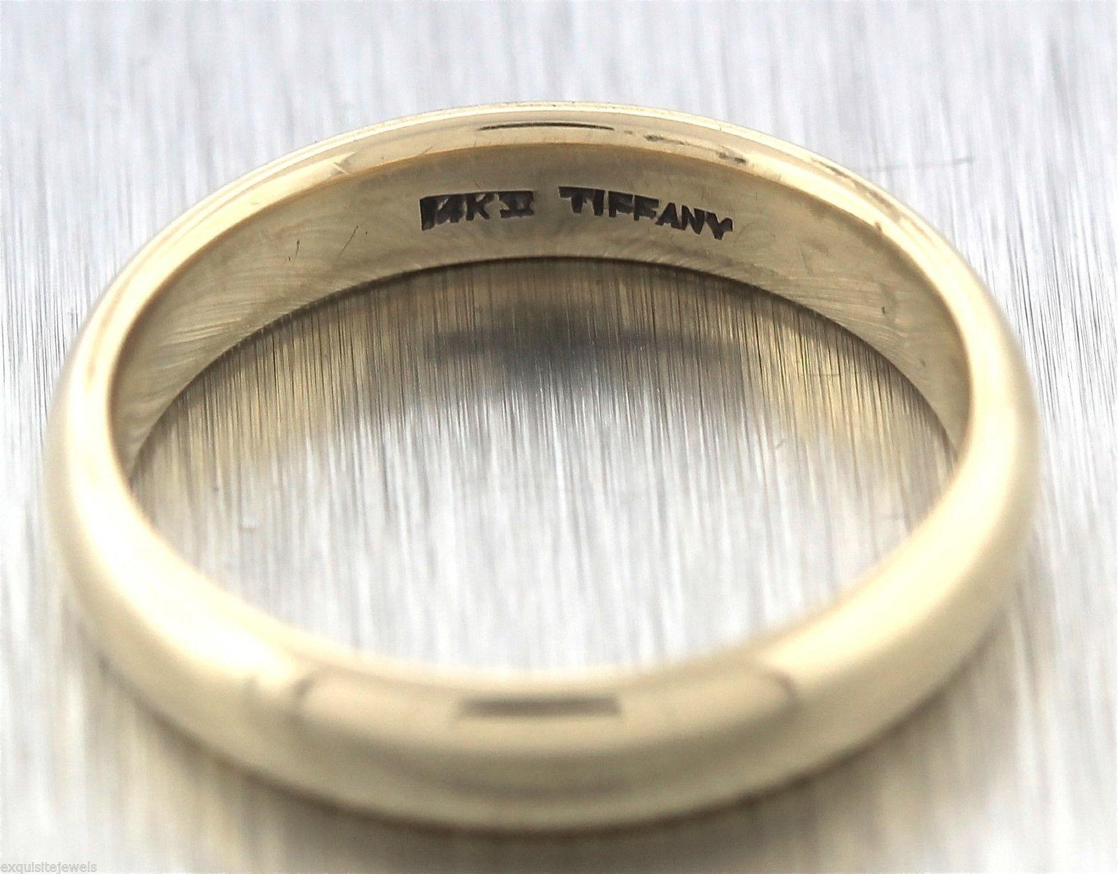 Authentic Mens Tiffany Co 14K Yellow Gold 45mm Wedding Band